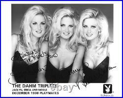 Dahm Triplets 12/1998 Playboy Playmates Sexy Signed Playboy Promo Photo