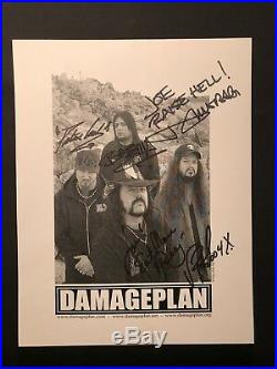 Damageplan fully signed 8.5x11 B&W promo photo Dimebag and Vinnie Paul Pantera