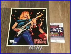Dave Murray signed Promo 8x10 Photo Iron Maiden JSA COA Certification