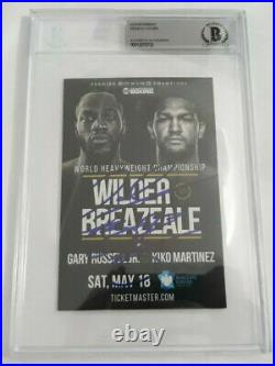 Deontay Wilder Bronze Bomber BAS/BGS Signed Auto Autograph Boxing Promo Card
