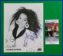 Donna Summer Signed Rare Orginal Vintage 8x10 Record Company Promo Photo Jsa Coa