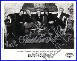 Duran Duran REAL hand SIGNED 2004 Promo Photo JSA LOA Autographed Nick Simon +3