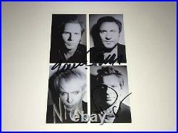 Duran Duran Rare Signed Promo Photo Card Paper Gods CD Simon Le Bon John Taylor