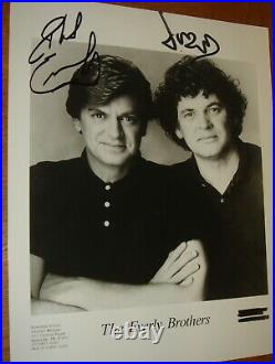 EVERLY BROTHERS excellent hand-signed 10x8 B&W promo photo with COA