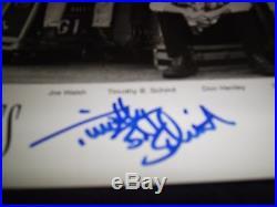 Eagles Signed Photo B&w Promo Original Not Reprint Joe Walsh+felder+schmit Wow