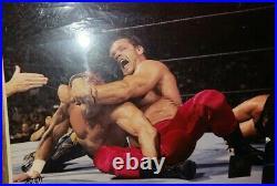 Eddie Guerrero Chris Benoit WWE Photo File Promo Rare WCW ECW RIP DUO UN SIGNED