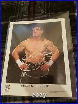 Eddie Guerrero signed original wwe promo photo wwf wcw wrestling latino heat ecw