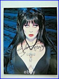 Elvira One Sheet Poster For Video Promo Plus 8 X 10 Signed Promo Photo