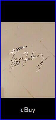 Elvis Presley Signed/Autograph 8x10 Sun Studio Promo Photo Framed