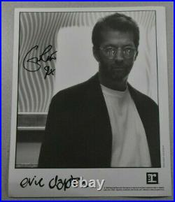 Eric Clapton Authentic Hand Signed Record Label Photograph Vintage Promo Photo
