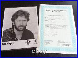Eric Clapton Autograph Signed And Dated Duck Records 1987 Promo Photograph