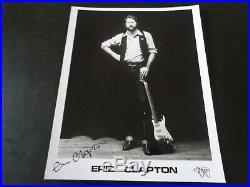 Eric Clapton Autograph/ Signed Rso Promo Photograph 1978/79. Epperson