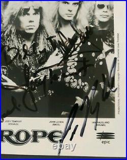 Europe Signed Promo Photo 1992