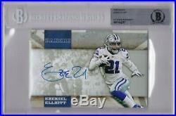 Ezekiel Elliott Autograph Signed Dallas Cowboys Panini Promo Photo Beckett Bas