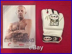 Fedor Emelianenko Signed Glove And Promo Photo M1 Grant Pride MMA UFC Bellator