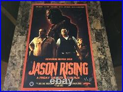 Friday The 13th Jason Rising Rare Cast Signed Promo Original Horror Movie Poster