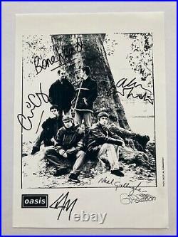 Fully Signed Oasis Creation Promo Photo With COA