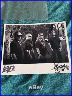 Fully Signed Slayer Promo Pic jeff henneman tom araya kerry king dave lombardo