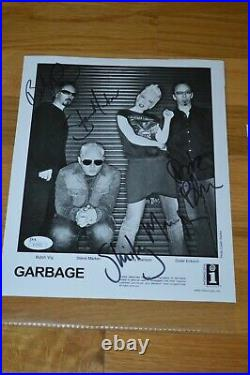 GARBAGE Entire Band Autographed 2002 B/W 8x10 Promo Photo James Spence COA