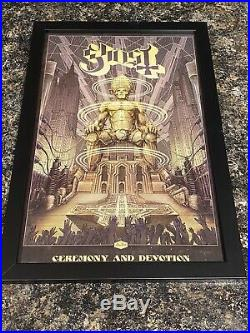 GHOST signed promo poster Ghost BC Tobias Forge Metallica openers