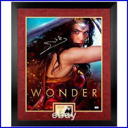 Gal Gadot Autographed Wonder Woman Promo 16x20 Framed Photo