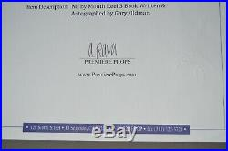 Gary Oldman Signed Book Nil by Mouth Promo Crew Gift Exact Proof FYC Autograph