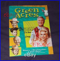 Green Acres TV photo promo signed composer theme Vic Mizzy music notes mega RARE