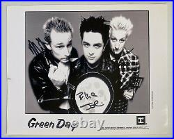 Green Day Signed By All 3 Autograph 8x10 B&W Promo Photo JSA LOA FREE S&H