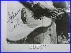 HAND SIGNED by Johnny Cash 8x10 Photo AUTOGRAPHED Country Singer Promo Picture