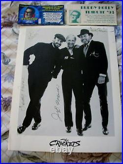 Hand signed Buddy Holly's Crickets Promo Photo