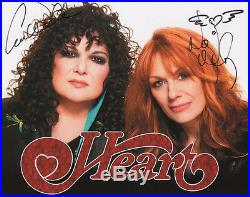 Heart Ann & Nancy Wilson Signed Color 8x10 Promo Photo Rare