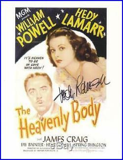 Hedy Lamarr Autograph 8x10 Heavenly Body Movie Promo / UACC RD Certified