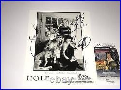 Hole Band Signed Promo Photo Courtney Love Melissa Auf der Maur Eric Erlandson