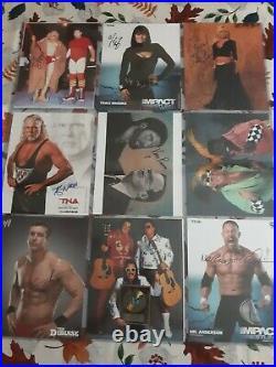Huge lot 38 Wrestling Autograph promos wwf wwe tna wcw ecw impact authentic