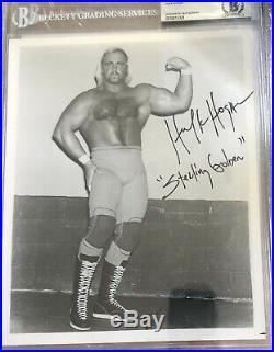 Hulk Hogan 1979-1980 Signed STERLING GOLDEN 8x10 Beckett Promo Photo WWF BAS