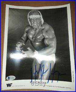 Hulk Hogan 1988 Orig Signed Autographed Wwf Promo Photo Vintage Bas Certified