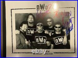 Hulk Hogan Kevin Nash Scott Hall Signed NWO 8x10 Photo WWE WCW Picture Promo
