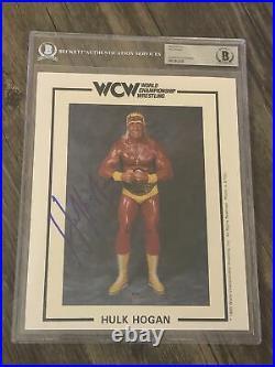 Hulk Hogan Signed Autographed 8x10 Wcw Promo Photo Beckett Bas Slabbed