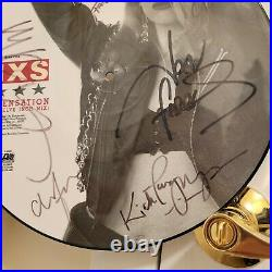 INXS signed Promo lp Kick Picture Disc 6 members