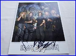 IRON MAIDEN HAND SIGNED 1997 PROMO 10 x 8 PHOTOGRAPH STUNNING! BLAZE ERA