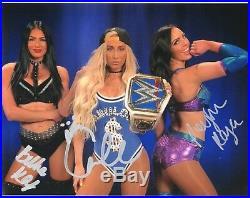 Iiconics Signed Wwe Photo & Carmella Wrestling Promo With Coa