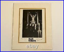 Iron Maiden Official Vintage Framed Autograph / Fully Signed PROMO Photograph