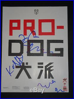 Isle Of Dogs Cast Signed X3 Sxsw Promo Photo Jeff Goldblum Anderson Nomura