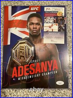 Israel Adesanya Autographed Signed 8.5x11 UFC Promo Photo JSA AUTHENTICATED
