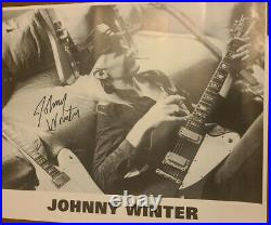 JOHNNY WINTER Rock LEGEND Autographed/Signed promo photo 16X20