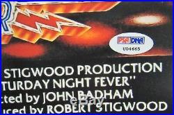 JOHN TRAVOLTA & KAREN LYNN GORNEY SIGNED SATURDAY NIGHT FEVER 11x17 PROMO PHOTO