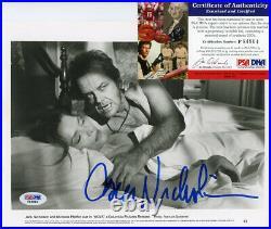 Jack Nicholson Wolf Signed Autograph 8x10 B&w Promo Photo Psa/dna F84864
