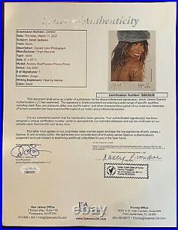 Janet Jackson Signed Vintage Original Promo Press Photo Rare Autograph JSA LOA