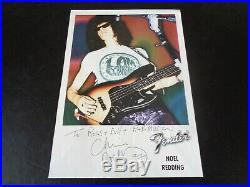 Jimi Hendrix Noel Redding Autograph A Large Signed Fender Promo Photo/leaflet