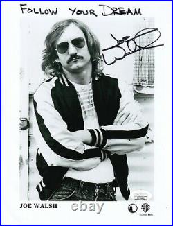 Joe Walsh of the Eagles REAL hand SIGNED Promo Photo #2 JSA COA Autographed